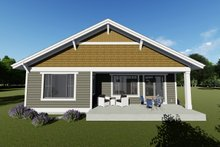 Craftsman Exterior - Rear Elevation Plan #1069-15
