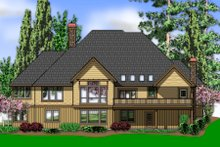 Craftsman Exterior - Rear Elevation Plan #48-543