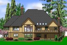 Dream House Plan - Craftsman Exterior - Rear Elevation Plan #48-543