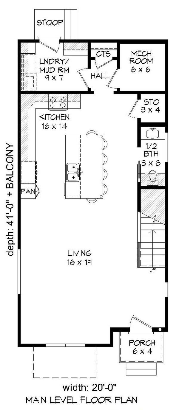 House Plan Design - Contemporary Floor Plan - Main Floor Plan #932-319