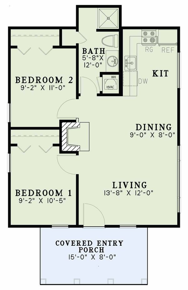 Country Floor Plan - Main Floor Plan Plan #17-2604