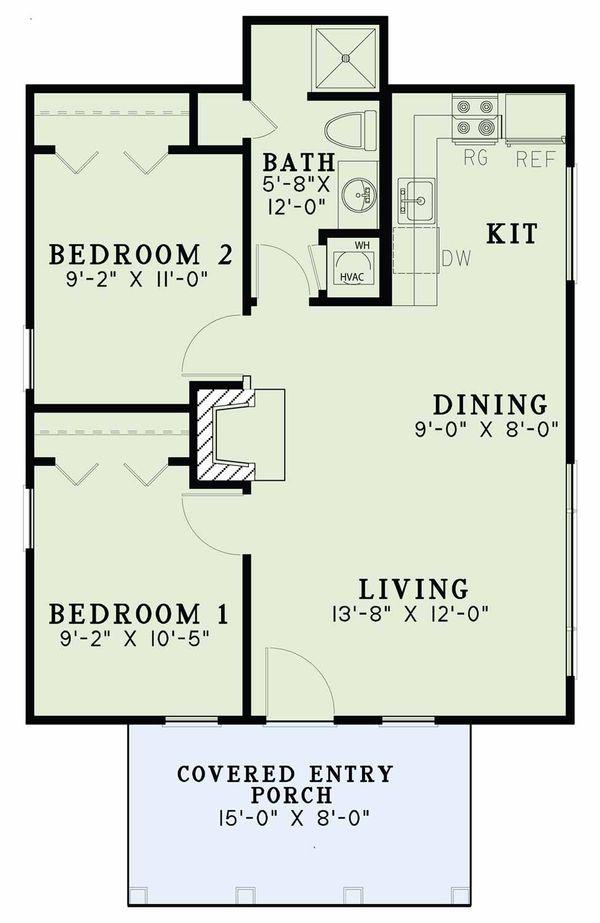 Country Floor Plan - Main Floor Plan Plan #17-2604