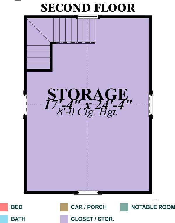 Traditional Floor Plan - Upper Floor Plan Plan #63-338