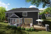 Craftsman Style House Plan - 6 Beds 4.5 Baths 5157 Sq/Ft Plan #70-1255 Exterior - Rear Elevation