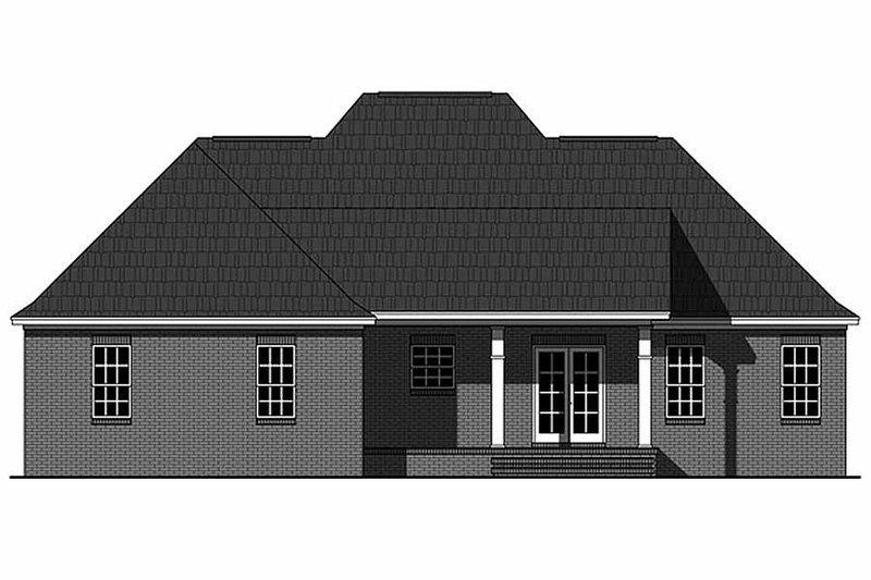 European Exterior - Rear Elevation Plan #21-339 - Houseplans.com