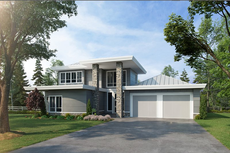 Dream House Plan - Contemporary Exterior - Front Elevation Plan #942-55