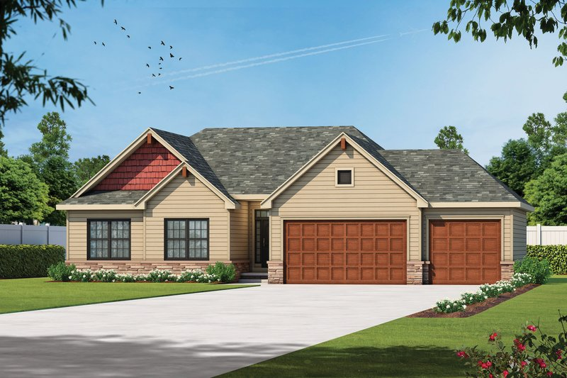 Ranch Exterior - Front Elevation Plan #20-2294