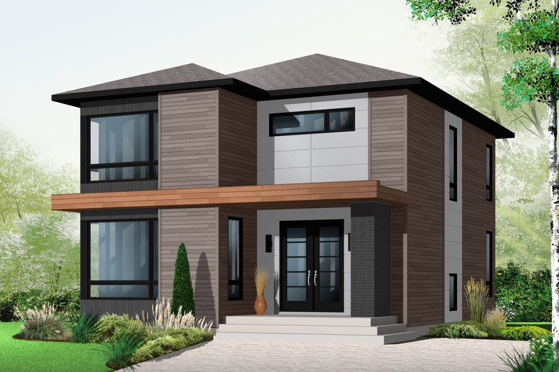 Dream House Plan - Contemporary Exterior - Front Elevation Plan #23-2554