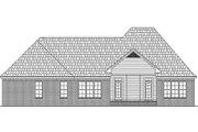 European Style House Plan - 3 Beds 2.5 Baths 2369 Sq/Ft Plan #21-298 Exterior - Rear Elevation