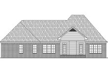 European Exterior - Rear Elevation Plan #21-298