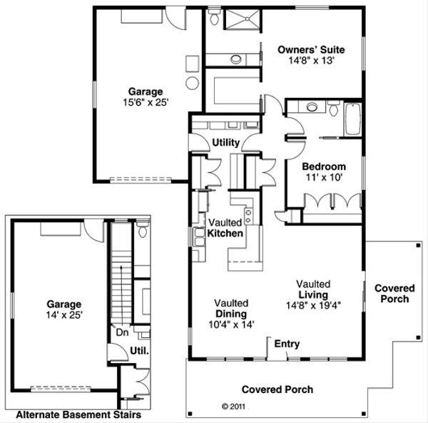 Dream House Plan - Craftsman Floor Plan - Main Floor Plan #124-725