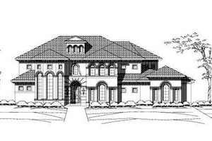 Mediterranean Exterior - Front Elevation Plan #411-120
