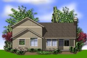 Craftsman Style House Plan - 3 Beds 2.5 Baths 2296 Sq/Ft Plan #48-537 Exterior - Rear Elevation