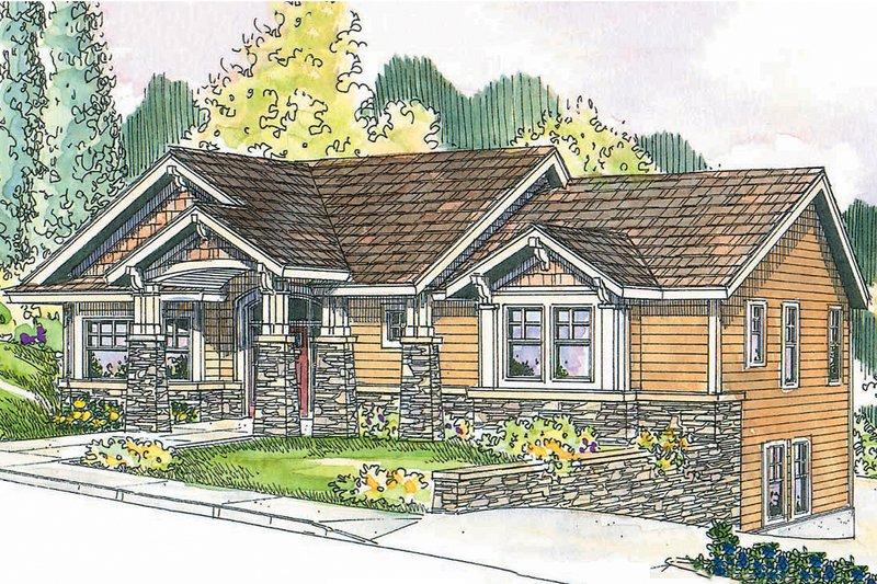 Craftsman Exterior - Front Elevation Plan #124-622 - Houseplans.com