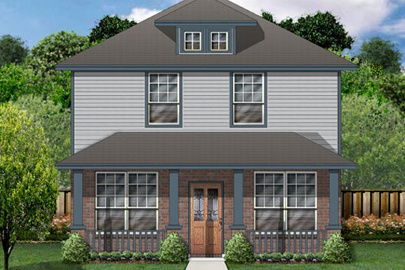 Craftsman Exterior - Front Elevation Plan #84-500