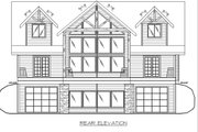 Craftsman Style House Plan - 3 Beds 2.5 Baths 2473 Sq/Ft Plan #117-886 Exterior - Rear Elevation