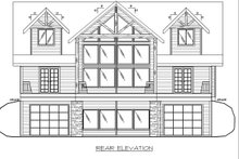 Craftsman Exterior - Rear Elevation Plan #117-886