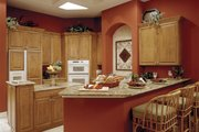 Mediterranean Style House Plan - 4 Beds 3 Baths 2908 Sq/Ft Plan #930-14 Interior - Kitchen