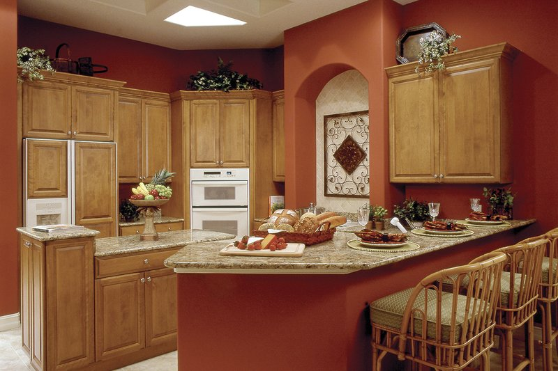 Mediterranean Interior - Kitchen Plan #930-14 - Houseplans.com