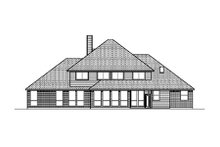 Colonial Exterior - Rear Elevation Plan #84-433