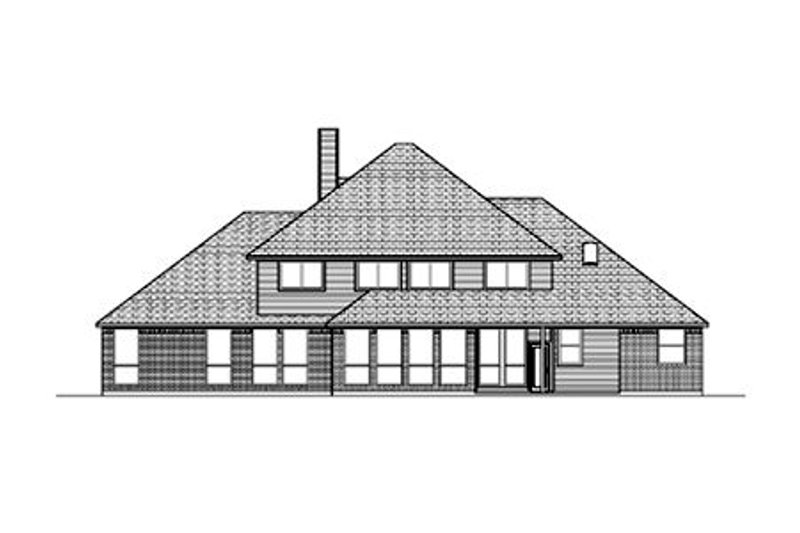 Colonial Exterior - Rear Elevation Plan #84-433 - Houseplans.com