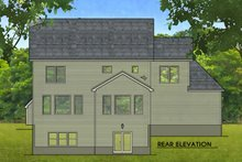 Architectural House Design - Colonial Exterior - Rear Elevation Plan #1010-215