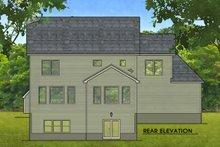 House Design - Colonial Exterior - Rear Elevation Plan #1010-215