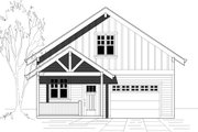 Country Style House Plan - 3 Beds 2 Baths 1230 Sq/Ft Plan #423-35 Exterior - Front Elevation