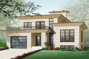 Modern Style House Plan - 4 Beds 2.5 Baths 3198 Sq/Ft Plan #23-2237 Exterior - Front Elevation