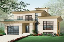 Dream House Plan - Front View - 3200 square foot Modern Home