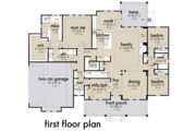 Farmhouse Style House Plan - 4 Beds 3 Baths 2192 Sq/Ft Plan #120-263 Floor Plan - Main Floor Plan