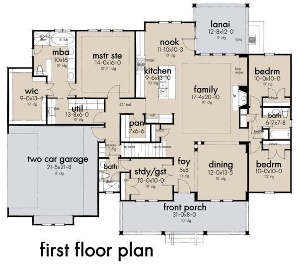 Farmhouse Floor Plan - Main Floor Plan Plan #120-263