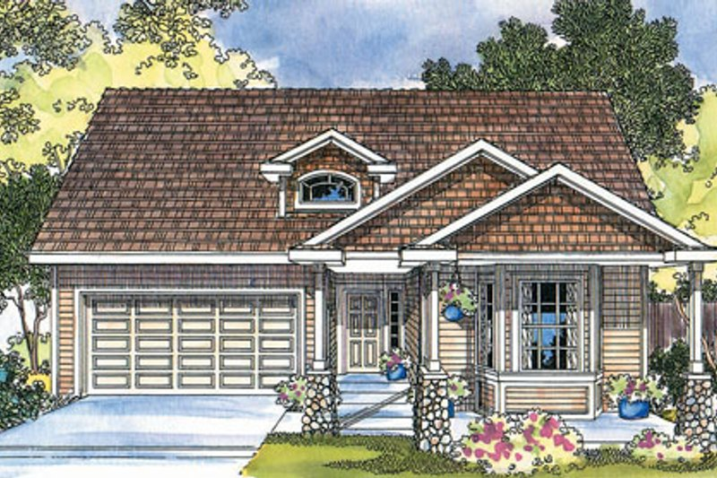 Country Exterior - Front Elevation Plan #124-366 - Houseplans.com