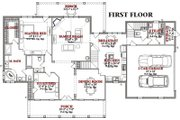 Country Style House Plan - 4 Beds 3.5 Baths 2890 Sq/Ft Plan #63-210 Floor Plan - Main Floor Plan