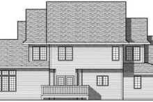 Home Plan - Traditional Exterior - Rear Elevation Plan #70-624