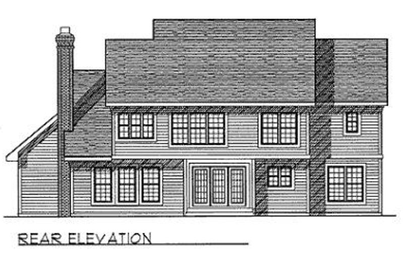 Traditional Exterior - Rear Elevation Plan #70-441 - Houseplans.com
