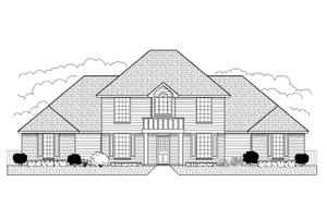 Colonial Exterior - Front Elevation Plan #65-250