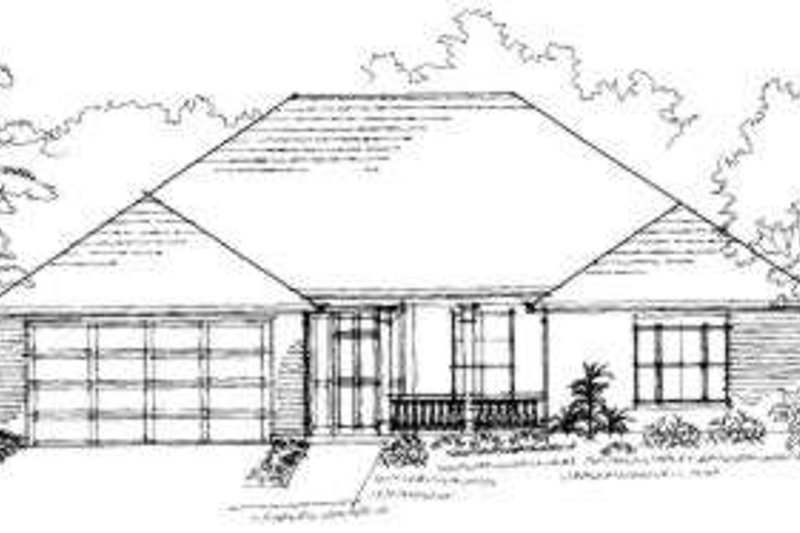 Traditional Exterior - Front Elevation Plan #325-231 - Houseplans.com