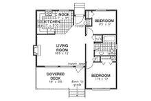 Cabin Floor Plan - Main Floor Plan Plan #18-162
