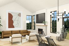 Dream House Plan - Farmhouse Interior - Family Room Plan #23-2729