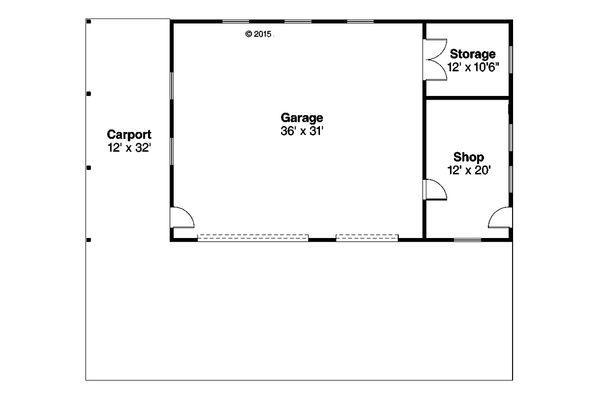 House Plan Design - Prairie Floor Plan - Main Floor Plan #124-994