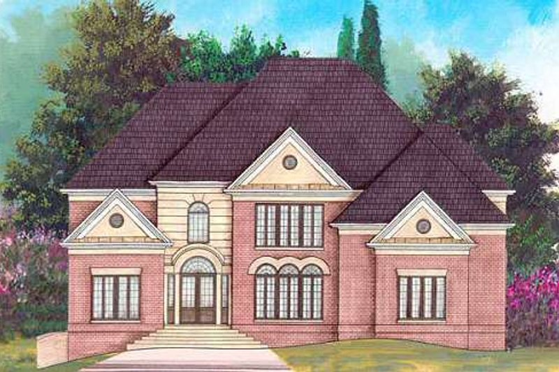 European Exterior - Front Elevation Plan #119-338