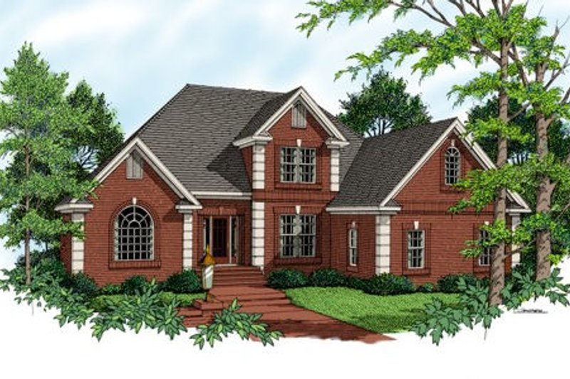 European Exterior - Front Elevation Plan #56-199 - Houseplans.com