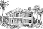 Beach Style House Plan - 3 Beds 2 Baths 2172 Sq/Ft Plan #37-129 Exterior - Other Elevation
