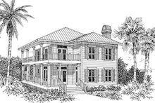 Beach Exterior - Other Elevation Plan #37-129
