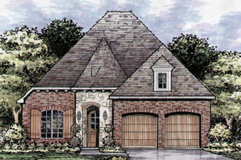 European Style House Plan - 3 Beds 2.5 Baths 2351 Sq/Ft Plan #141-354 Exterior - Front Elevation