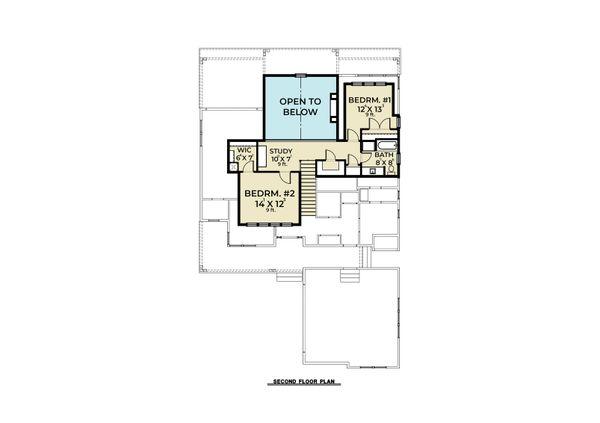Craftsman Floor Plan - Upper Floor Plan #1070-105