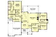 Craftsman Style House Plan - 4 Beds 2.5 Baths 2589 Sq/Ft Plan #430-170 Floor Plan - Main Floor