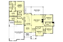 Craftsman Floor Plan - Main Floor Plan Plan #430-170