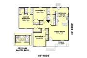 Country Style House Plan - 3 Beds 2 Baths 1327 Sq/Ft Plan #44-177 Floor Plan - Main Floor Plan